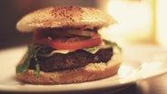 Ein Burger mit Tomate und Salat. © Patrik Naumann / photocase.de Foto: Patrick Naumann