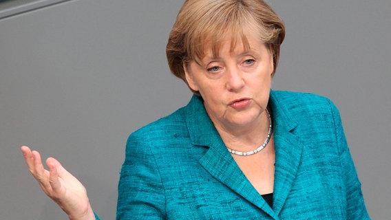 Angela Merkel im Bundestag © dpa