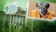 NDR-Collage mit Angela Merkel. © Fotolia.com / Fotograf: Roadrunner / dpa - Report / Fotograf: Peer Grimm Foto: Peer Grimm