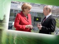 """Bildmontage: Merkel und Putin auf der Dachterasse - gepaart mit dem Themenbild zu """"Neu im Bundestag"""". © NDR /  picture alliance / dpa / Foto: Screenshot"""