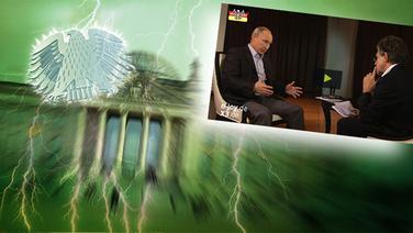 """Bildmontage: Putin beim Interview - gepaart mit dem Themenbild zu """"Neu im Bundestag"""". © NDR /  picture alliance / dpa / Foto: Screenshot"""