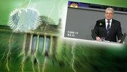 """Das Themenbild zur Comedyrubrik """"Neulich im Bundestag"""" zeigt eine Collage aus dem Brandenburgertor, dem Bundesadler sowie Joachim Gauck bei einer Rede im Bundestag. © NDR /  picture alliance / dpa / Foto: Screenshot"""