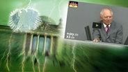 Screenshot aus dem Video Neulich im Bundestag (123). © picture alliance / Fotolia.com Fotograf: Adler: Fotolia.com / Fotograf: Roadrunner, Blitz: picture alliance / Okapia KG Fotograf: Nathalie Dautel, Reichstag: NDR / Fotograf: Christine Raczka