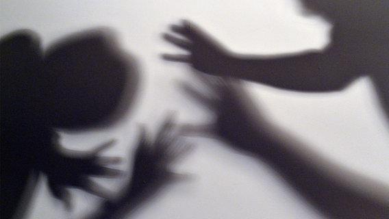Ein Schattenspiel von sich streitenden Menschen. © picture alliance Foto: Maurizio Gambarini