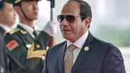 Abdel Fatah al-Sisi mit Sonnenbrille © picture alliance / AP Images Foto: skajiyama|File|Filed|9/4/20...