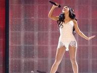 Sängerin Ariana Grande auf der Bühne bei den American Music Awards 2015 in Los Angeles. © Picture Alliance / AP Images Fotograf: Matt Sayles