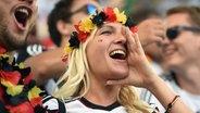 Deutscher weiblicher Fan. © picture alliance / Sven Simon Foto: Sven Simon