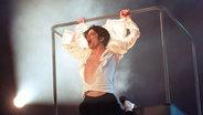 Michael Jackson bei Wetten, das...? 1995 (Archivfoto von 1997) © dpa