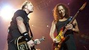 James Hetfield und Kirk Hammett von Metallica auf der Bühne © Rainer Jensen