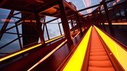 Die Rolltreppe in der Essener Zeche Zollverein © picture alliance / blickwinkel Fotograf: S. Ziese