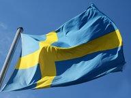 Die schwedische Nationalflagge weht an einem Mast im Wind. © picture alliance/Winfried Rothermel Foto: Winfried Rothermel