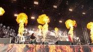 Die Band Heaven Shall Burn beim Deichbrand Festival. © NDR/Fotografirma Fotograf: Fotografirma/Andreas Kluge