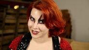 Weltmeisterin an der Luftgitarre 2011 Aline Westphal alias The Devil's Niece