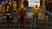 """Ein Still aus """"Guardians of the Galaxy 2"""" zeigt die vier Hauptcharaktere. © Marvel Entertainment"""