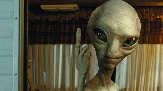 """Filmszene aus """"Paul - Ein Alien auf der Flicht"""" © Universal Pictures"""