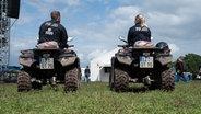 Polizei auf Quads beim Hurricane Festival in Scheeßel 2018. © NDR Foto: Benjamin Hüllenkremer