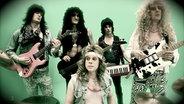 Heavy-Metal-Band Vikktim in den 80er-Jahren (v.l.n.r. Malte Pittner, Kriztof Breitmar, Tim Brettschneider, Nils Holst, vorne Tim Willig). © OKD/NDR Foto: Marco Drews
