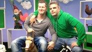 Andreas Kuhlage und Jens Hardeland im Multimedialabor