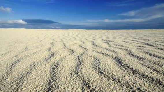 Eine Sandbank auf Amrum.