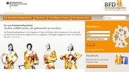 Die Homepage des Bundesfreiwilligendienst © NDR Foto: Screenshot