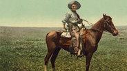 Wilder Westen, Cowboy auf Pferd ©  picture alliance / akg