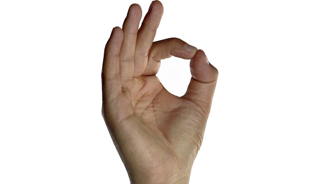 Fingern Auf Dem Tennisplatz