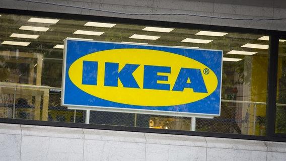 Das Logo von Ikea. © picture alliance / abaca Foto: Le Tellec Stephane/ABACA