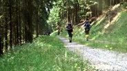 Wanderer mit Rucksack im Wald. © NDR/Benjamin Arcioli Fotograf: Benjamin Arcioli