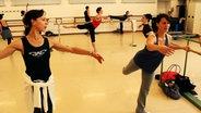 Balletttraining an der Stange