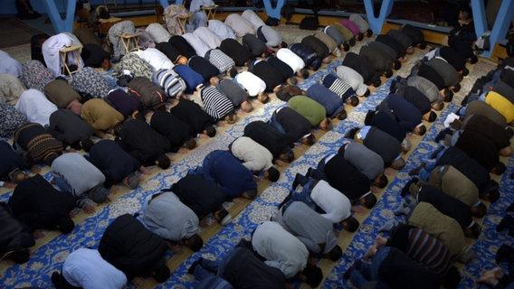 Muslime beim Gebet. © NDR/Martin D'Costa Foto: Martin D'Costa