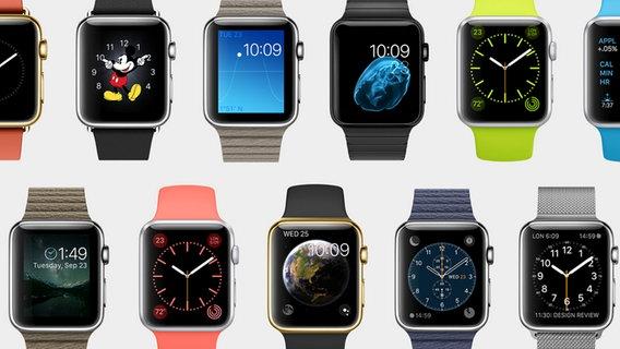 Mehrere Apple Watch. © Apple Foto: Apple