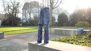 Foto von gefrorener Hose auf dem NDR-Gelände © N-JOY
