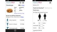 Screenshots einiger Abnehm-Apps