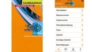 Screenshot der App Fahrradpass © Netzbewegung GmbH
