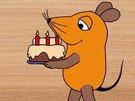 Sendung mit der Maus: Maus mit Geburtstagskuchen © WDR/Schnitt-Menzel/Reich