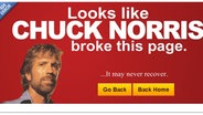 404-Seite mit Chuck Norris © scapromotions.com/404/404.html