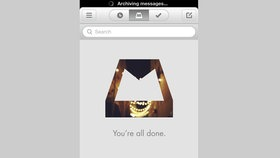Screenshot der iPhone-App Mailbox  Fotograf: Teja Adams