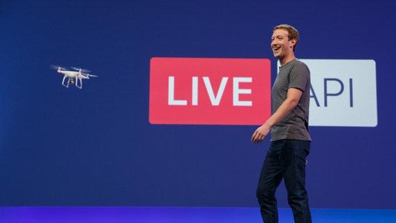 Mark Zuckerberg präsentiert in San Francisco den 10 Jahresplan für Facebook. © Facebook Inc.