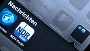 Die neue NDR App auf einem Iphone. © NDR