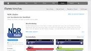 Bild der NDR Radio App im iTunes Store