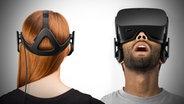 Lang erwartet: Die VR-Brille Oculus Rift ist ist schwarz und erinnert an ein Fernglas zum Aufsetzen. © Oculus
