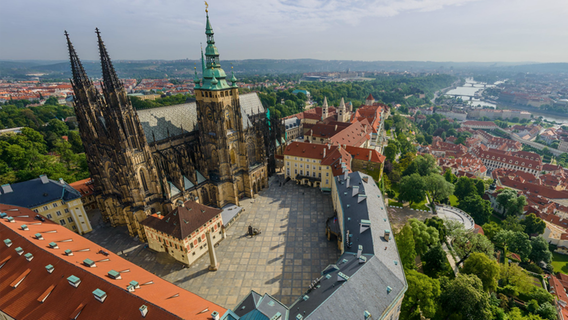 Luftbild von AirPano von Prag. © http://www.airpano.com/ Foto: AirPano