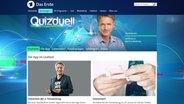 """Die Website der Sendung """"Quizduell"""". © NDR / ARD Fotograf: Screenshot"""
