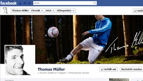 Screenshot Facebookseite von Thomas Müller © facebook.com