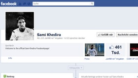 Screenshot Facebookseite von Sami Khedira © facebook.com