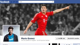 Screenshot Facebookseite von Mario Gomez © facebook.com