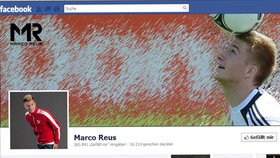Screenshot Facebookseite von Marco Reus © facebook.com