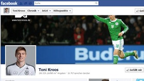 Screenshot Facebookseite von Toni Kroos © facebook.com