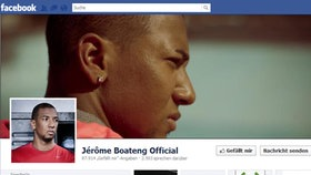 Screenshot Facebookseite von Jérôme Boateng © facebook.com