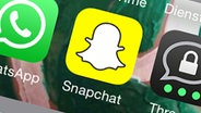 Screenshot der Snapchat-App